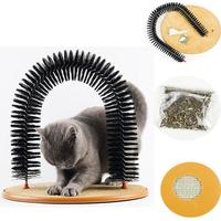 pet-product-cat-self-groomer-automatic-massage-itching-device-cat-track-tunnel-grabbing-toy-cat-hair-brush-massage-door-arched