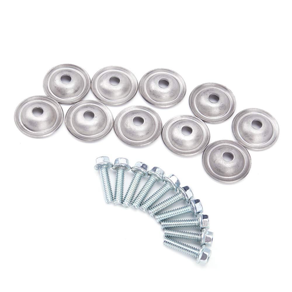 KEMiMOTO 10 adet cıvata ve pullar için çelik kızak plakası Polaris 7556065 UTV Polaris Ranger 400 500 6x6 RZR S 800 RZR 570 800 900