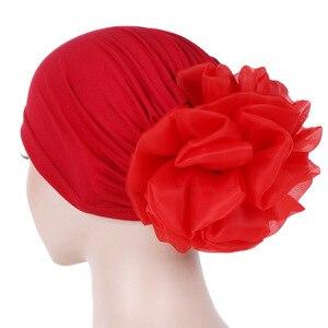Image 2 - Helisopus Women New Muslim Pure Color Turban Big Ladiess Headband Ladies Elastic Headwear Covers Hair Accessories