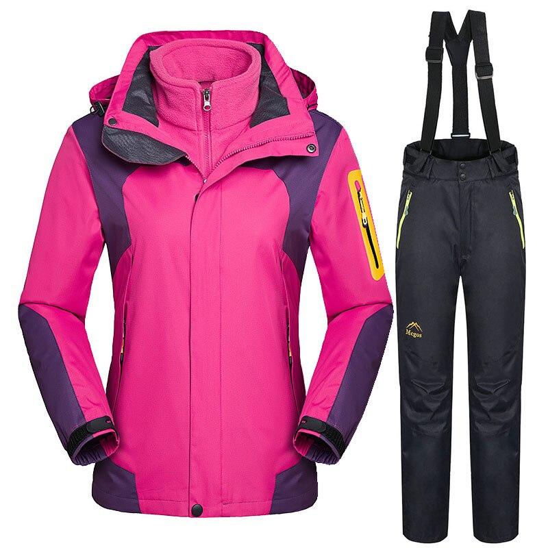 -30°Ski Suit Women Snowboard Jacket Sets Warm Windproof Waterproof Winter Snow Suit Outdoor Ski Jacket Pants Women's Winter Suit