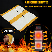 2Pcs 12V Universal Car Seat Heating Pad Heated Seat Covers Pad Carbon Fiber Heated Auto Winter Warmer Heater Accessories 5v usb electric clothes heater sheet adjustable temperature winter heated gloves for cloth pet heating pad waist warmer tablet