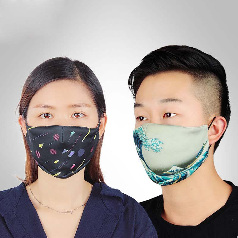 Newest Cycling Face Mask Dust Mask Filter Sports Silk Breathable PM2.5 Protective Mouth-Muffle Anti-dust Anti-fog Bike Mask