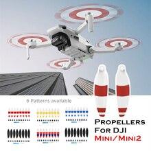 Eliche di ricambio 8 pezzi per DJI Mavic Mini/Mini2 Drone Prop Blade accessorio ventilatori ad ala pezzi di ricambio accessori UAV antivento