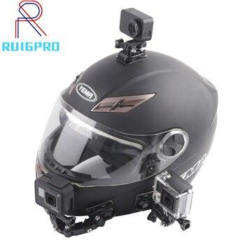 цена на Motorcycle Helmet Mount Curved Adhesive Arm For Xiaomi yi 4K Gopro Hero 8 7 6 5 4 SJCAM sj4000 Eken H9 Action Camera Accessories