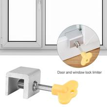 Hardware Door-Stopper Key-Lock Windows-Restrictor Sliding-Doors Safety Anti-Theft Child