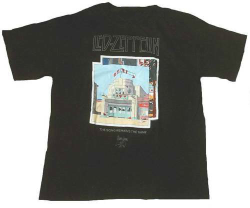 Official LED ZEPPELIN Swan Song Song Remains Again Rock Star ViP T-Shirt S image