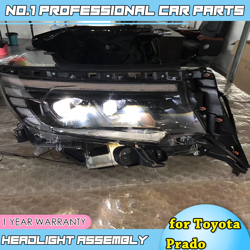 Car Styling for Toyota Prado FULL Headlights 2018 New Prado FULL LED Headlight LED Head lamp DRL Low High beam All Bi-LED