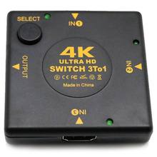 Aaae Top-4K HDMI Switch Kotak Selector 3 Di 1 KVM Audio Extractor HUB Splitter Switcher(China)
