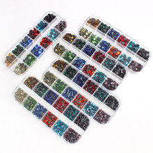 New Packing 12 grid box Hotfix rhinestone SS6-SS30 Mix color crystal stone for DIY clothing shoe bag Diamond ornament parts