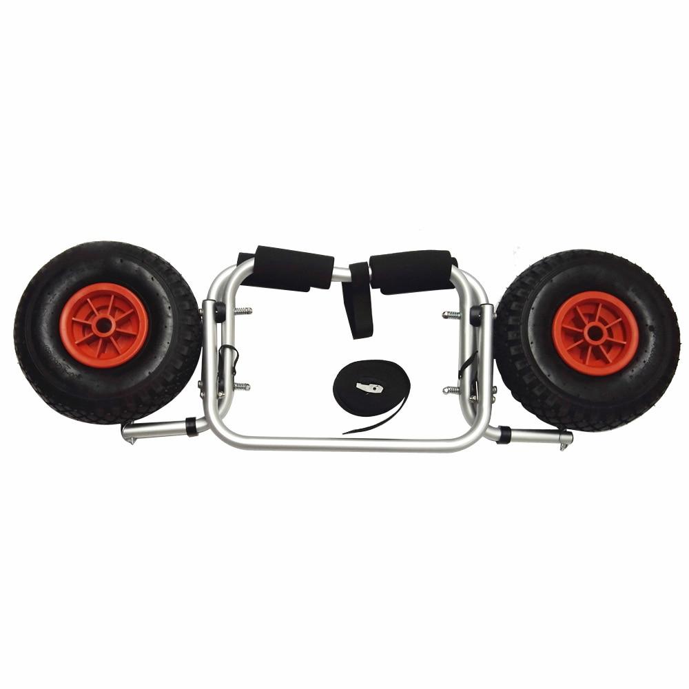 65KG Loading Capacity Foldable Kayak Trolley Energy-saving Carrier Cart H0I6