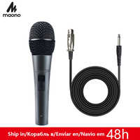 MAONO K04 Professional Dynamic Microphone Cardioid Vocal Wired MIC With XLR Cable Plug And Play Microfone for Stage Karaoke KTV