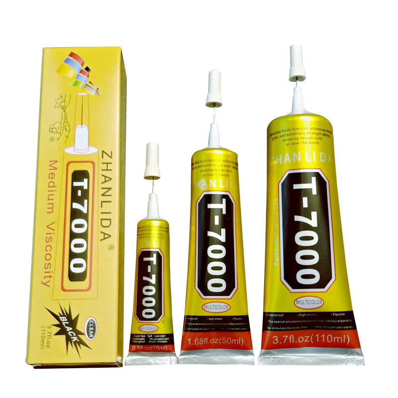 15ml T7000 Glues Multipurpose Adhesives Super Glues T-7000 Black Liquid Epoxy Glues For DIY Crafts Glass Phone Case Metal Fabric