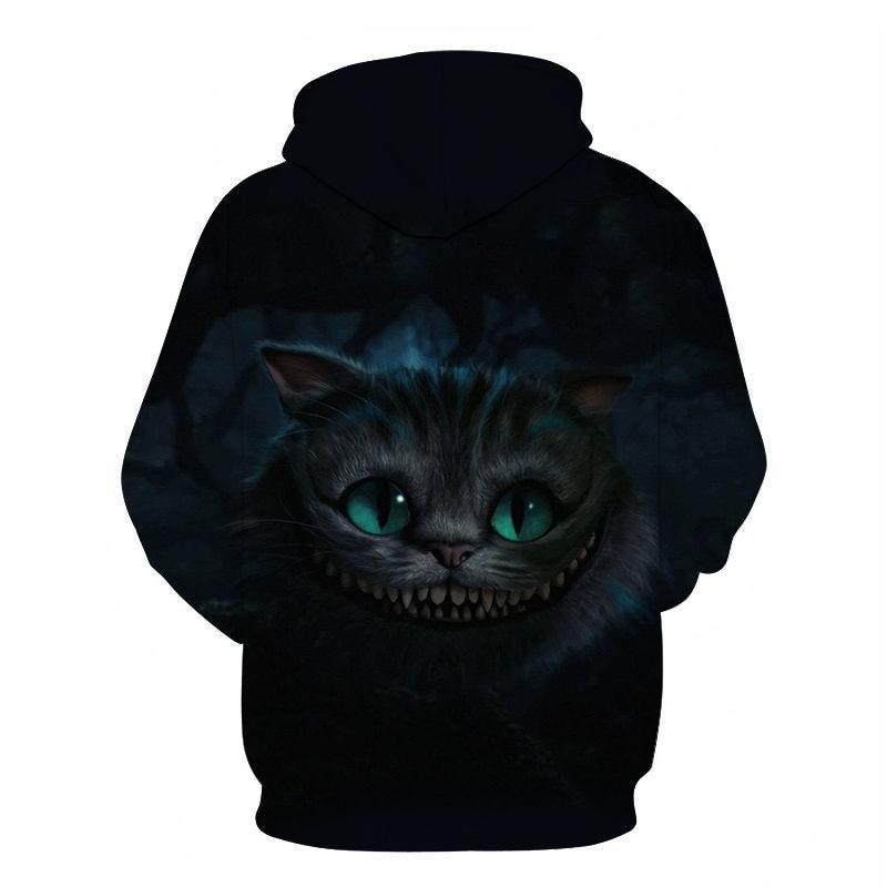 Women's Two Cat Sweatshirts Long Sleeve 3D Hoodies Sweatshirt Pullover Tops Blouse Pullover Hoodie Poleron mujer Confidante Tops 74