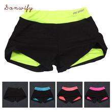 Shorts do esporte de secagem rápida yoga shorts para as mulheres treino fitness gym correndo esporte calças curtas cintura esportiva