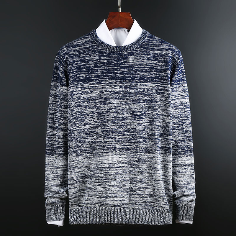 2019 New Fashion Brand Sweater For Mens Pullover Thick Slim Fit Jumpers Knitwear O-Neck Autumn Korean Style Casual Men Clothes