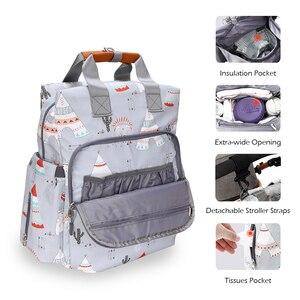 Image 2 - Alameda рюкзак для подгузников, большая сумка для мам, дорожная сумка для подгузников, органайзер для коляски, уход за ребенком на открытом воздухе