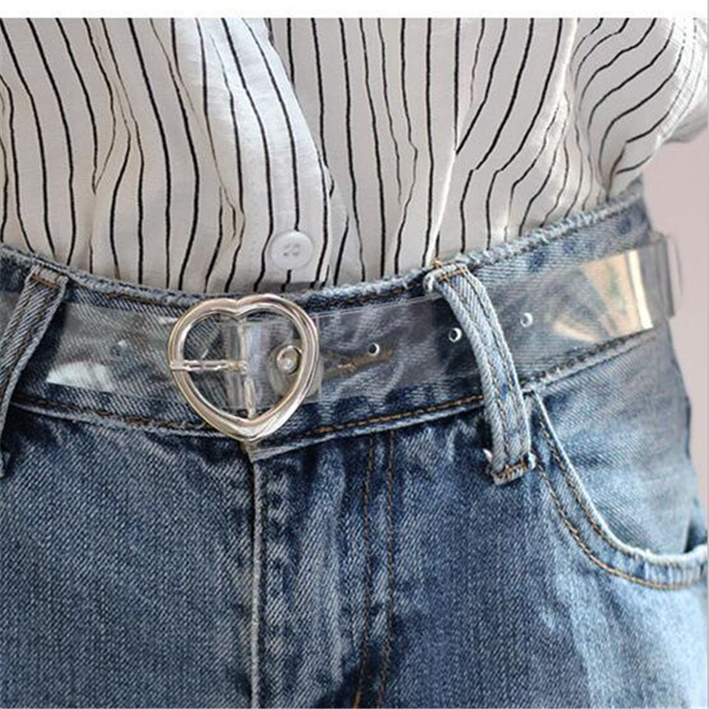 Waist Belt Round Pins Invisible Clear Transparent Fashion Women Trousers Dress