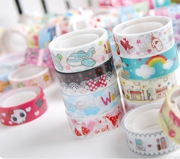 10 Rolls Masking Tape For Washi DIY Adhesive Decorative Sticker Cute Cartoon Animals Deco Mixed Labels For Scrapbooking Stickers фото