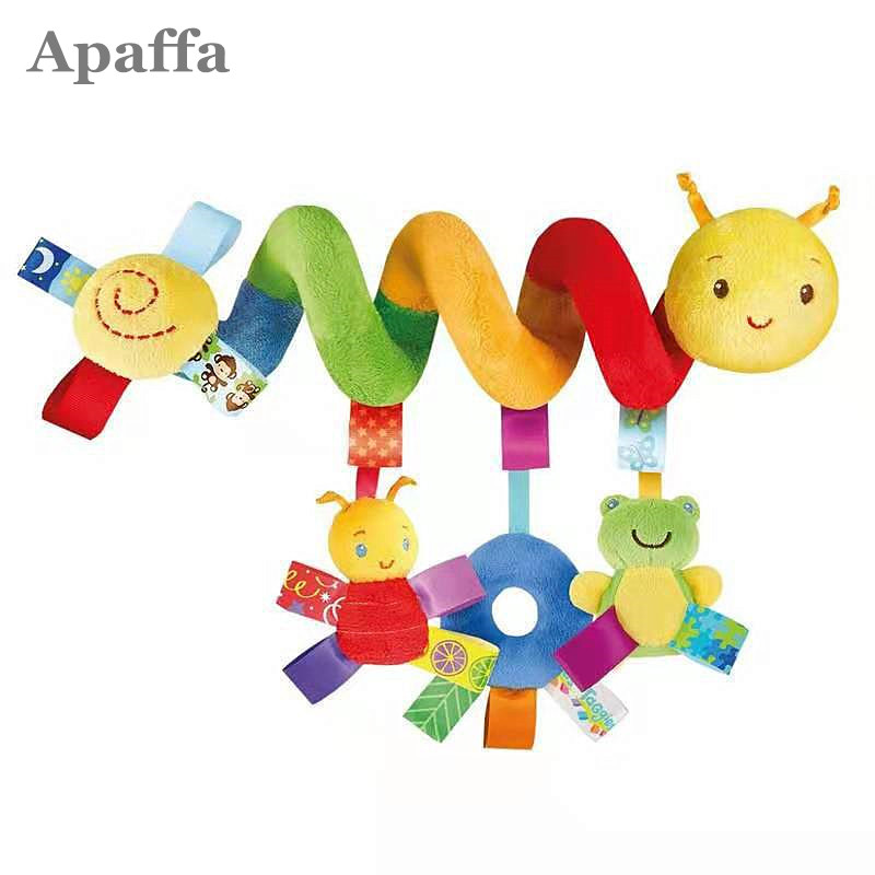 HOT Baby Rattles Bed Bell Stroller Hanging Dolls Educational Toys Soft Mobiles Car Seat Stroller Spiral Crib Toy For Newborn