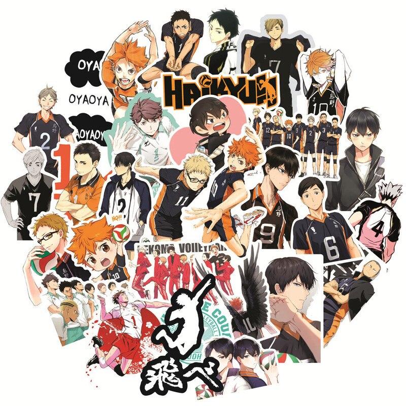 10/30/50 adet japonya Anime Haikyuu!! Karikatür etiket bagaj Laptop kaykay Moto araba bisiklet çıkartması Pegatinas oyuncak çıkartmalar