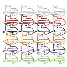 24 pçs adorável gatos em forma de clipes de papel criativo marcadores agulhas de papel festa presente escritório mão conta essentials
