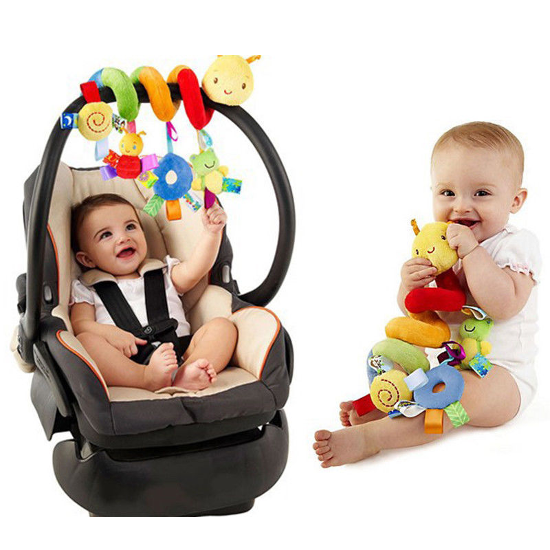 Pudcoco Baby Rattles Cute Activity Spiral Stroller Car Accessories Seat Travel Lathe Hanging Toys Baby Rattles Toy Hot