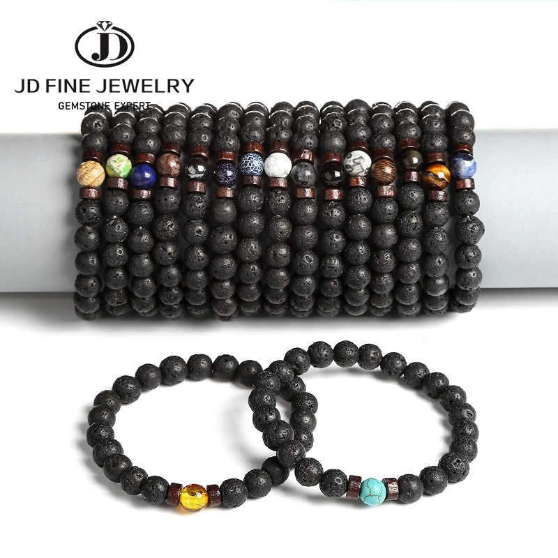 JD mężczyźni bransoletka naturalny cesarz kamienny koralik tybetański bransoletka buddy chakra kamień lawowy dyfuzor bransoletki mężczyzn biżuteria prezent