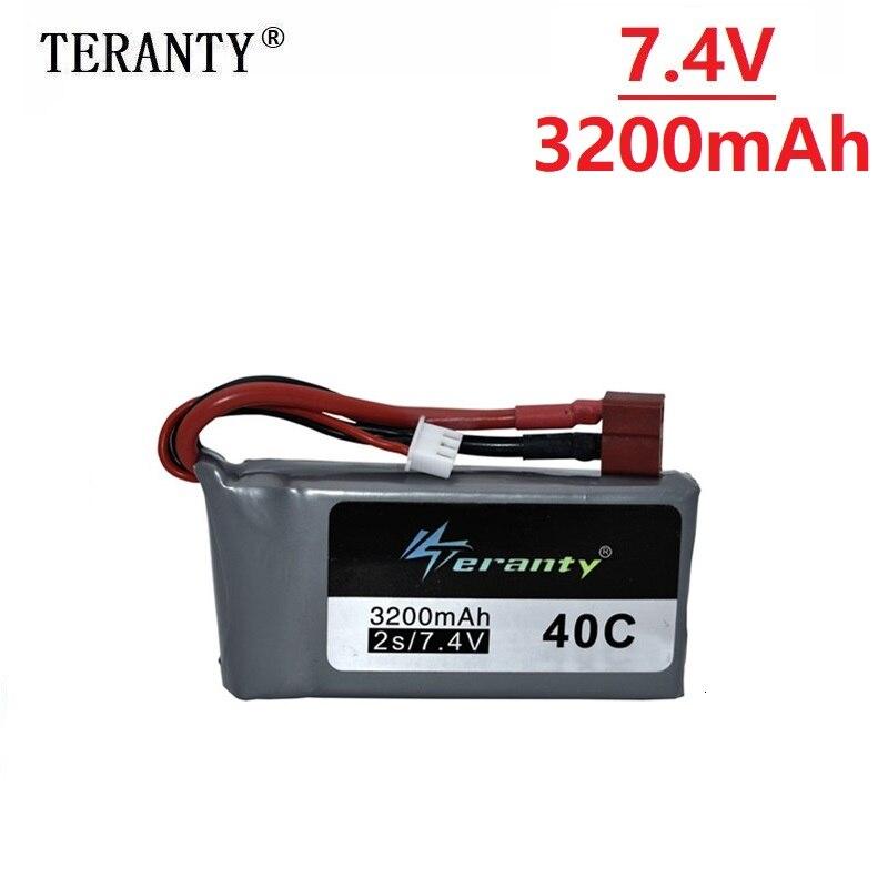 7.4v 3200mah Lipo Battery For Wltoys 12428 12423 RC Four-wheel RC Vehicle Car 1500mAH 7.4v Battery Feiyue 03 Q39 RC Parts 1pcs