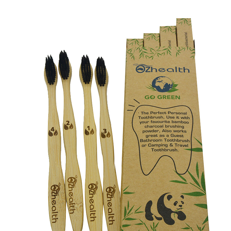 Natural Dental Care For All Family BPA Free Vegan Zero Waste Bamboo Toothbrushes Natural Organic Biodegradable