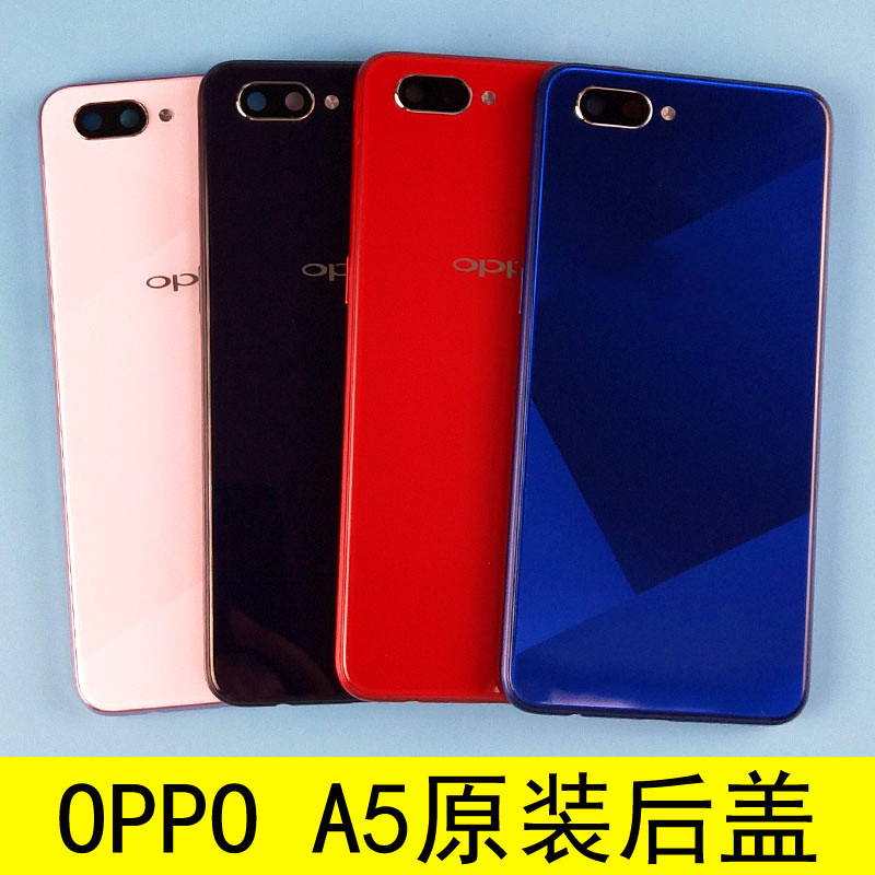 For oppo A5 battery back cover with buttons camra glass+front frame replacement for oppo A5