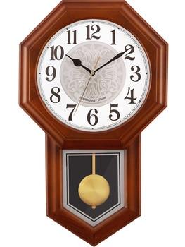 Reloj De Pared grande De madera Vintage, diseño nórdico, pendulo, mecanismo De...