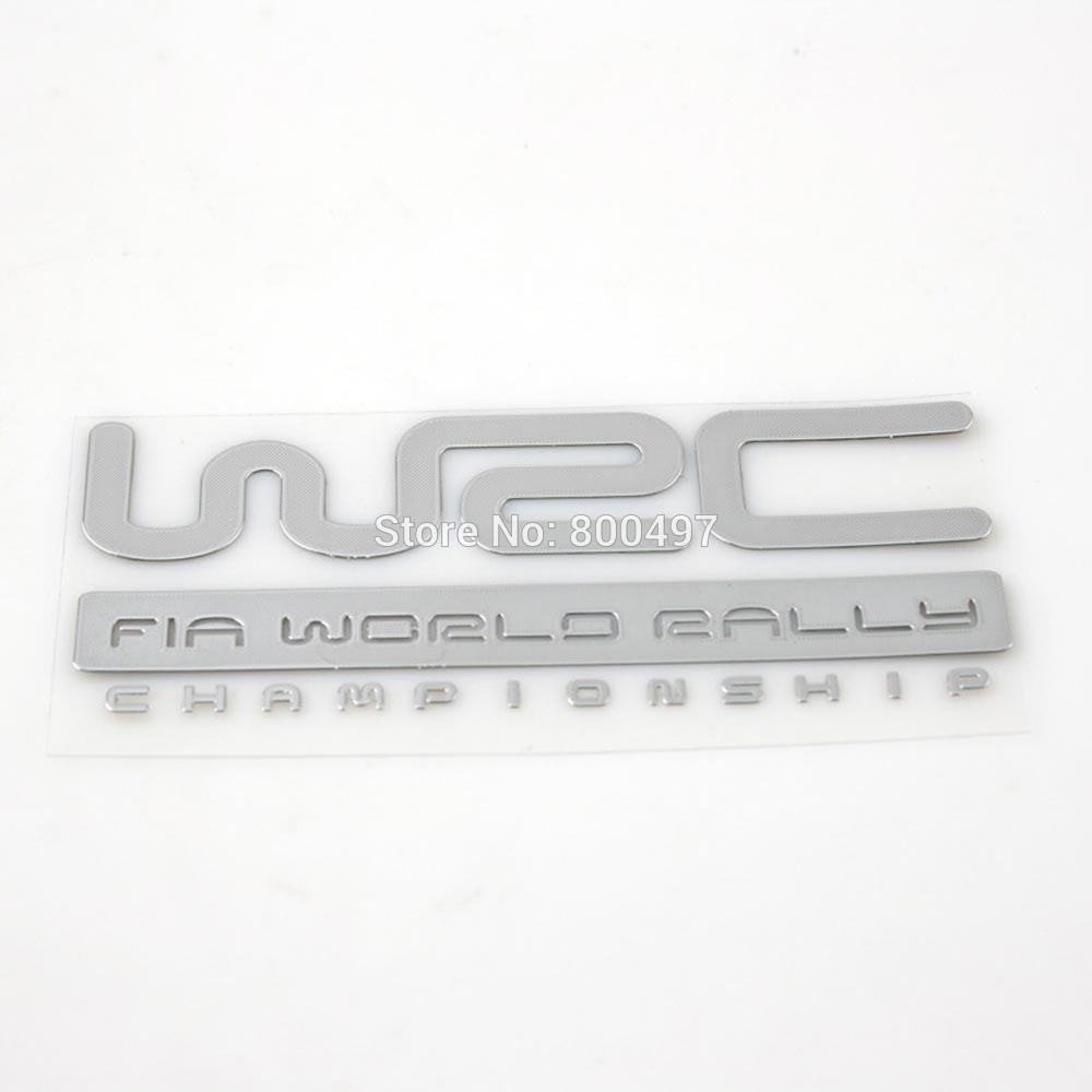 3D Car Trunk Nickel Alloy Badge Emblem Sticker Accessories Adhesive Car Styling Badge Decal For WRC FIA World Rally Champ