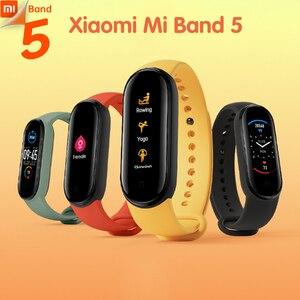 Новый Xiaomi Mi Band 5 Spo2 Умный домашний контроль AI голосовой помощник пульсометр шагомер для сна для плавания спортивный монитор приложение Push на...