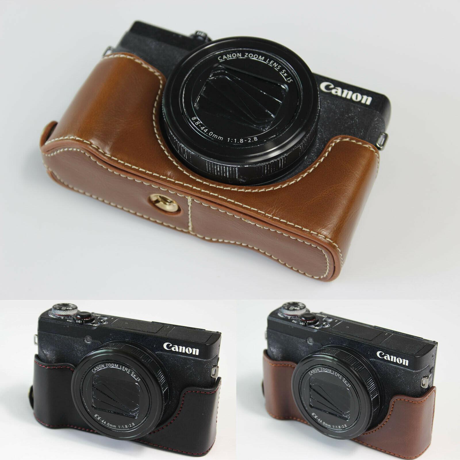 Gadget Place Black Light Weight Leather Wrist Strap for Canon PowerShot G9 X Mark II G7 X Mark II G5 X G3 X G1 X