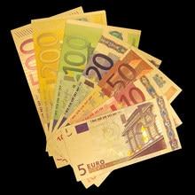 Billete de oro Euro 5.10.10.50.100.200.500 ECU reproducción de dinero colección de billetes