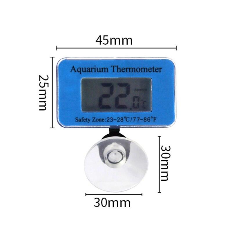 LED Digital Aquarium Thermometer Fish Tank Water Terrarium Temperature With Suction Cup MAZI888