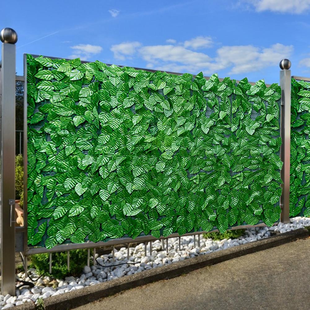 Feuille artificielle intimité clôture rouleau mur aménagement paysager clôture confidentialité clôture écran extérieur jardin arrière balcon clôture