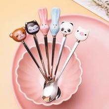 Stirring Spoon Kitchen-Accessories Panda Cartoon Dinnerware Coffee-Scoop Cute Rabbit