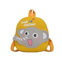 2021 Cartoon elephant school girl backpack cute kids backpack canvas backpack for boys small children
