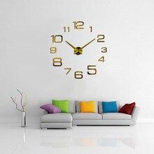 Clock Watch Wall Clocks Horloge 3d Diy Acrylic Mirror Stickers Mirror Home Decoration Living Room Digital DIY Wall Clock B1 diy wall clock acrylic mirror stickers art home decoration