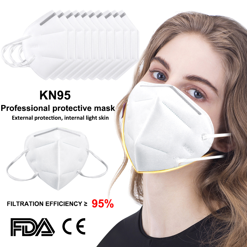 Hot Sale KN95 Masks 95% Filtration Breathing Mask Dustproof Anti-fog Disposable Anti PM2.5 Face Masks Anti-Epidemic Supplies