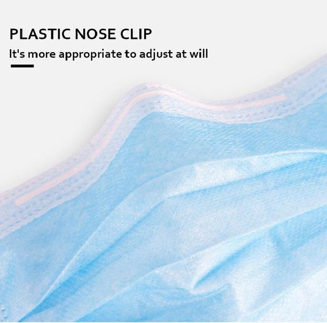 10pcs/50pcs/100pcs Disposable Mask Mouth Mask Non-woven Melt Blown Three-layer Mouth Mask 4