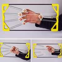 Klavier gitarre Guzheng finger kraft einstellbaren abstand finger kraft rehabilitation starke griff Finger Orthese Hand Übung