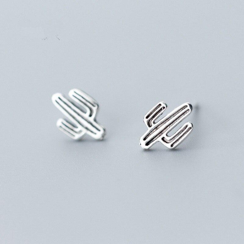 100-925-Sterling-Silver-Women-s-Fashion-Vintage-Cactus-Stud-Earrings-for-Women-School-Girls-Daughter