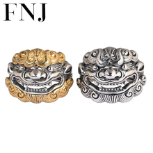 925 Sterling Silver Pixiu Ring Skeleton Skull 100% Real S925 Thai Silver Rings for Women Jewelry Adjustable Size