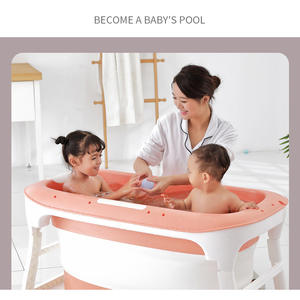 Bath-Barrel Portable Folding Newborn Child Large-Length