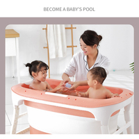 Baby Tub Child Bath Barrel Portable Folding Bath Barrel Adult Tub Large Length Newborn Bath Tub Baby Bath Baby Bathtub