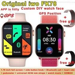 Оригинальные iwo FK78 GPS позиционный циферблат Bluetooth вызов смарт-часы монитор сердечного ритма трекер музыка 1,78-дюймовый смарт-часы PK iwo max
