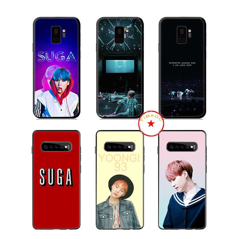 Suga K Pop Min Yoongi K Pop yumuşak silikon samsung kılıfı Galaxy A50 A70 A60 A40 A30 A20 A10 M10 M20 m30 M40 kapak