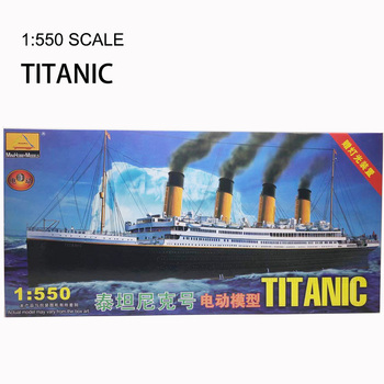 1:550 RMS Titanic Model Building Kits Assembly Plastic Ship Model With Electric Motor Lighting Device Electric Titanic Toy trumpet 01532 1 35 united arab emirates bmp 3 infantry chariot assembly model building kits toy